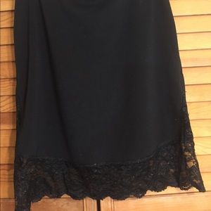 "Woman's ""Express"" black pencils skirt with lace"